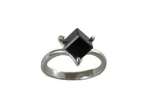Кольцо Кубик черный
