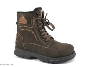 Ботинки школьные Марко 6690, коричневый